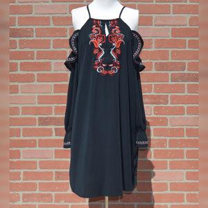 SugarLips Long Sleeve Cold Shoulder Dress
